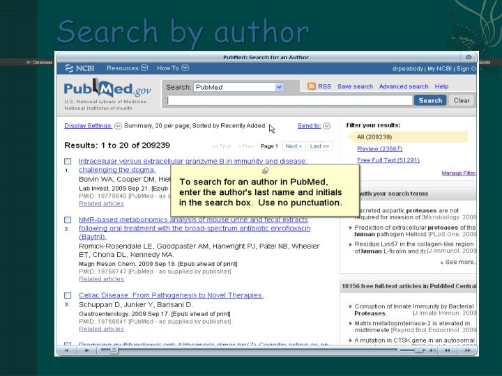Search by author