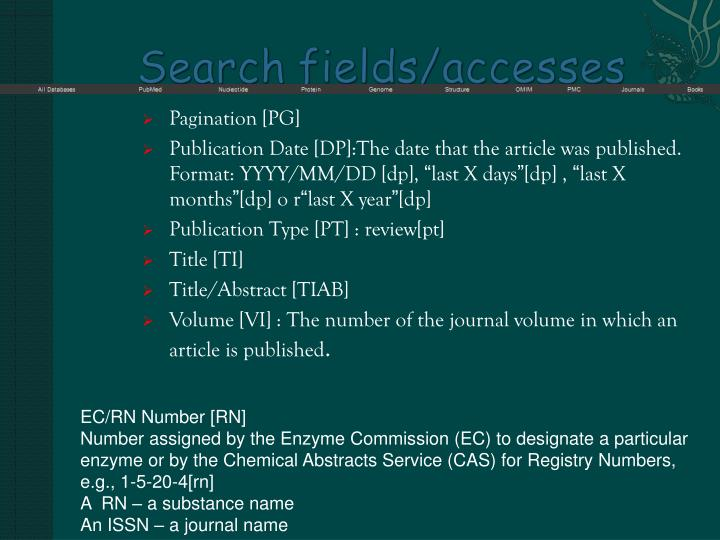 Search fields accesses1