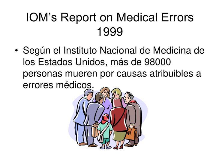 IOM's Report on Medical Errors