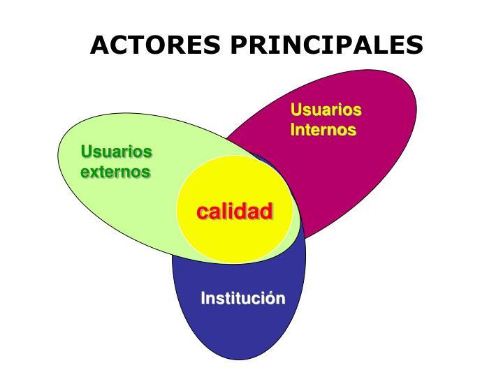 ACTORES PRINCIPALES