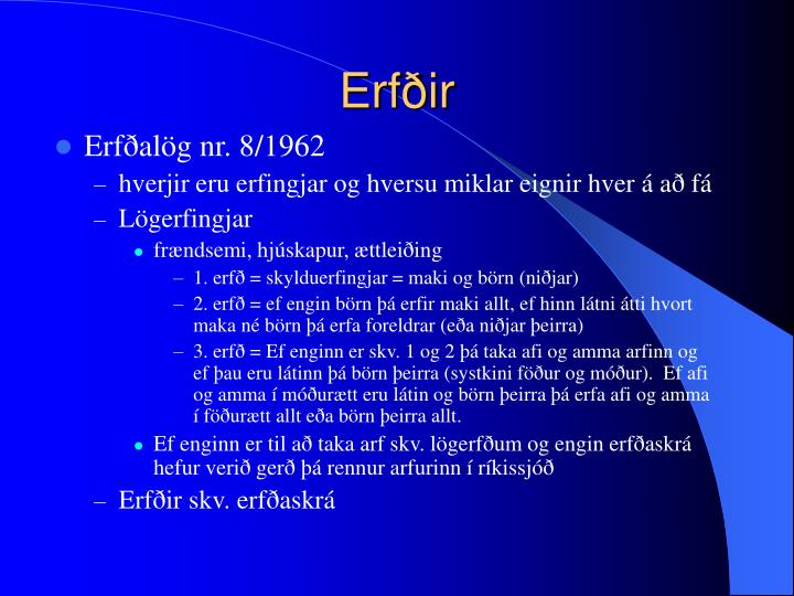 Erfðir