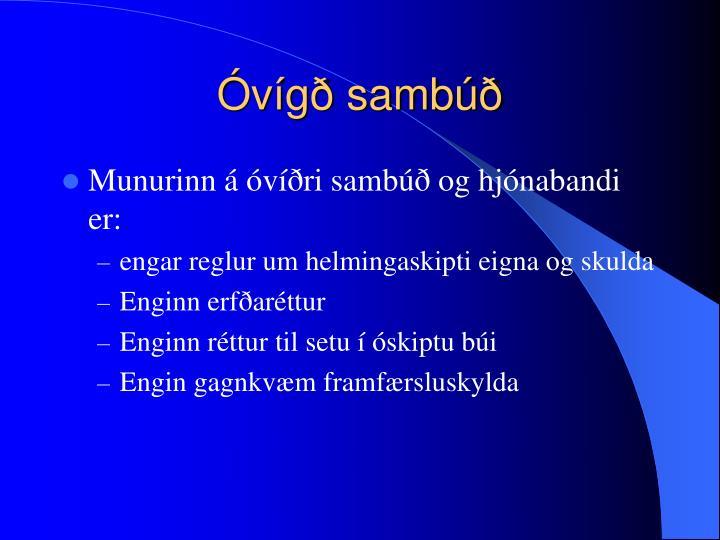 Óvígð sambúð