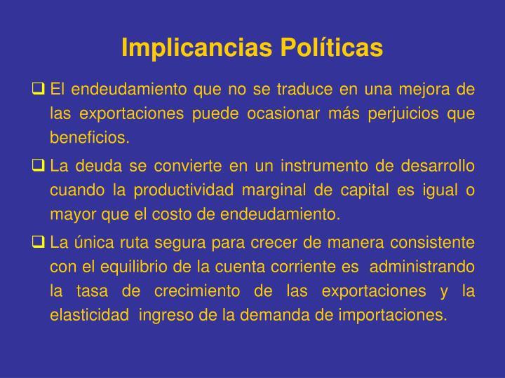Implicancias Políticas
