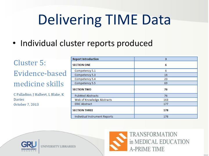 Delivering TIME Data