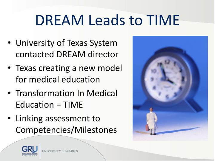 DREAM Leads to TIME