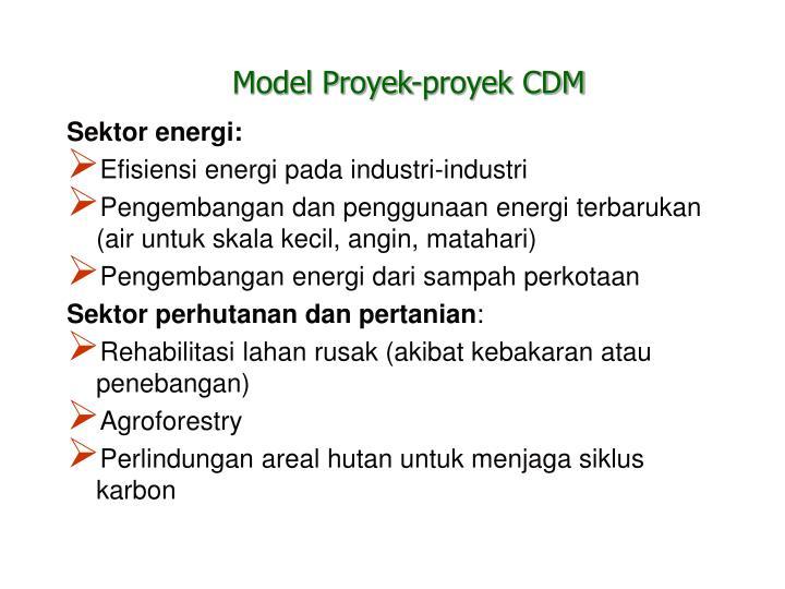 Model Proyek-proyek CDM