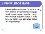2 knowledge base
