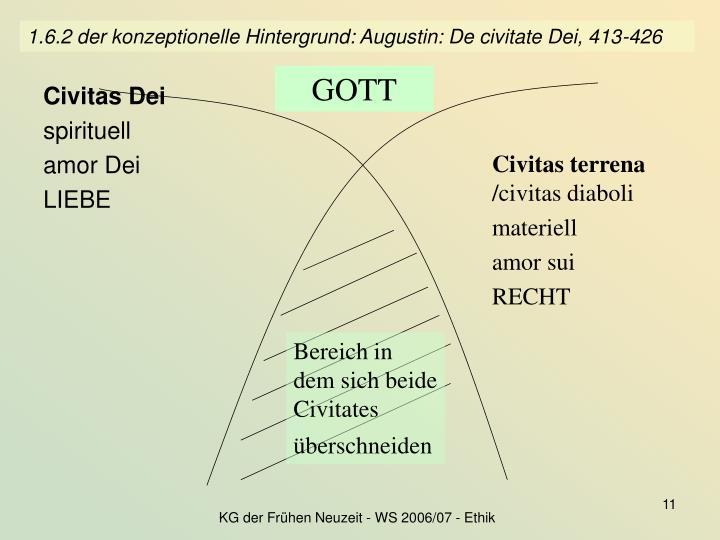 1.6.2 der konzeptionelle Hintergrund: Augustin: De civitate Dei, 413-426