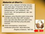 makarim al shari a