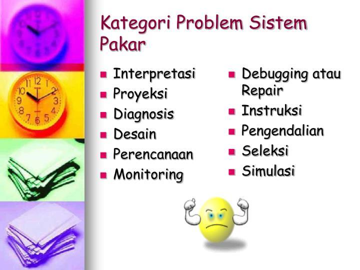 Kategori problem sistem pakar