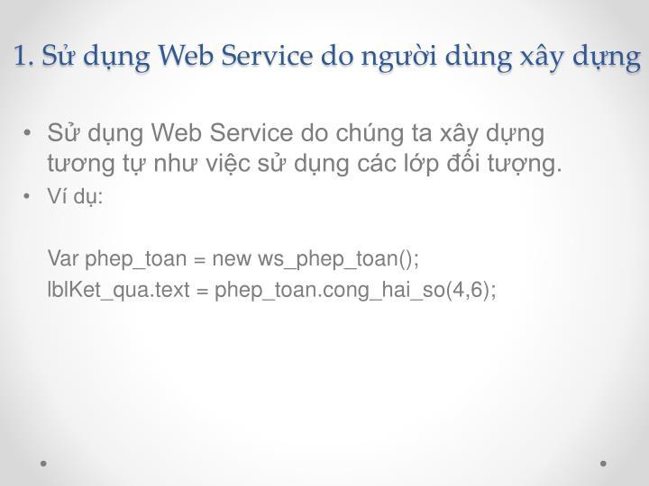 1. Sử dụng Web Service do người dùng xây dựng