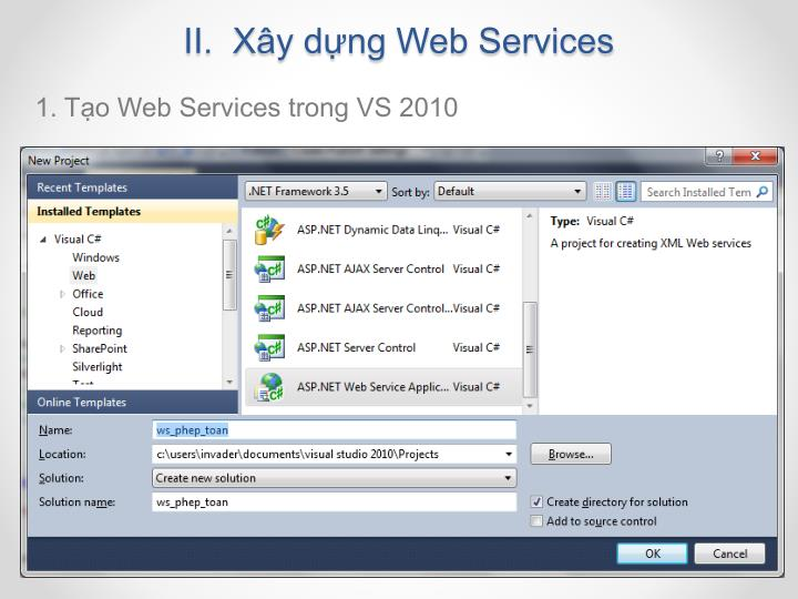 II.  Xây dựng Web Services