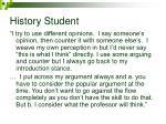 history student
