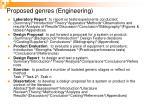 proposed genres engineering