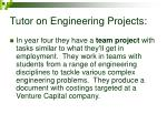 tutor on engineering projects