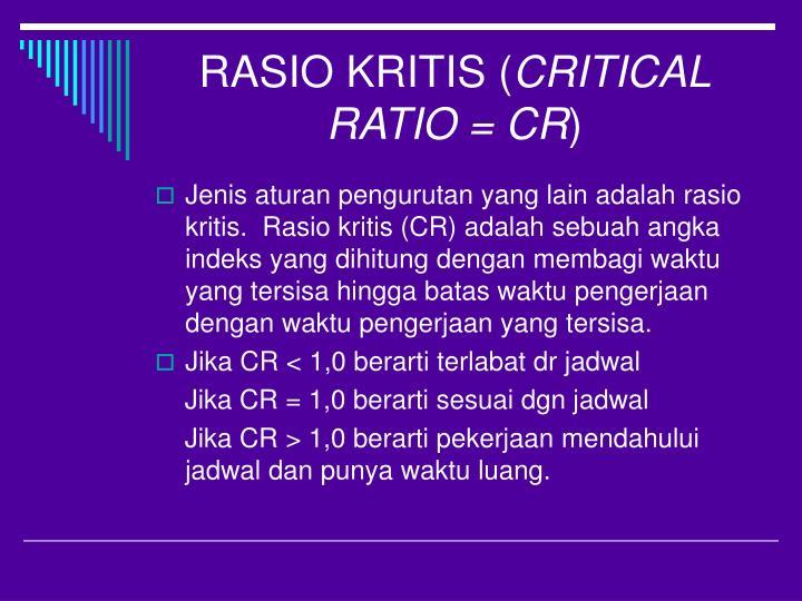 RASIO KRITIS (