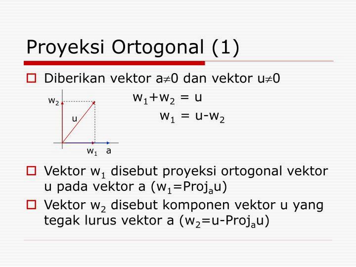 Proyeksi Ortogonal (1)