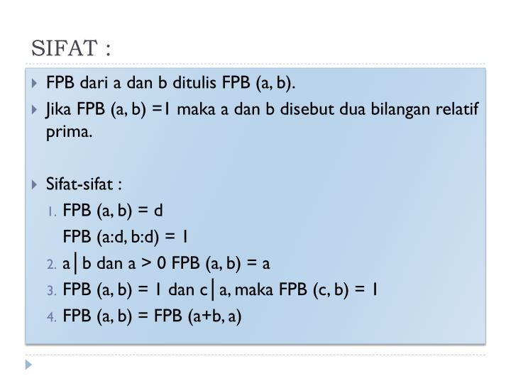 SIFAT :