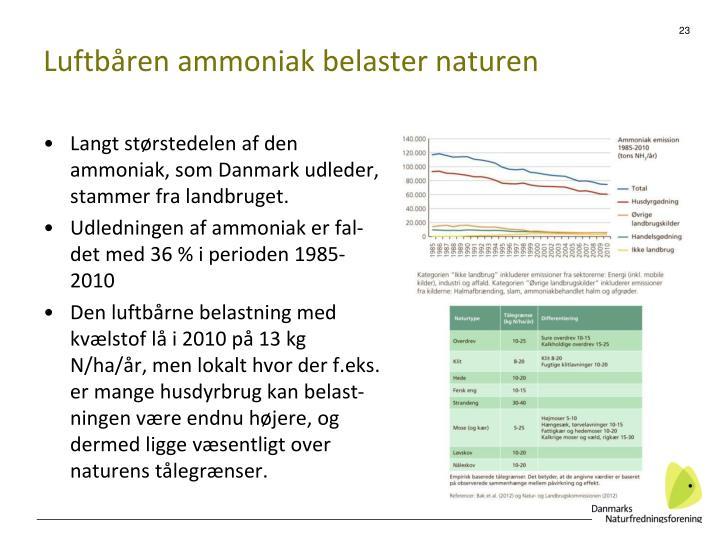 Luftbåren ammoniak belaster naturen