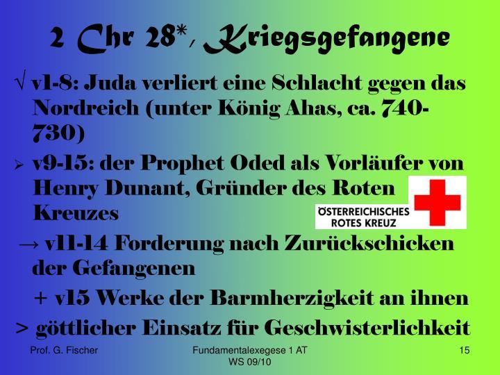 2 Chr 28*, Kriegsgefangene