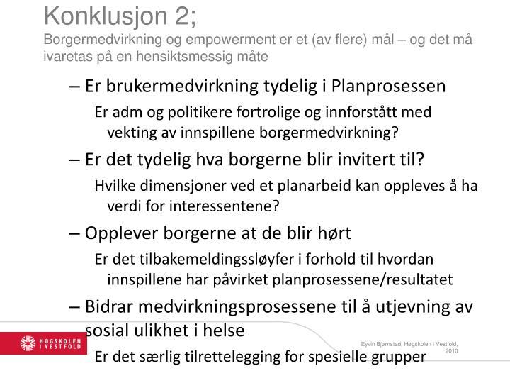 Konklusjon 2;