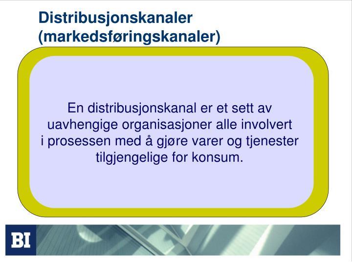 Distribusjonskanaler markedsf ringskanaler