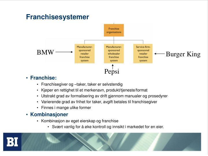 Franchisesystemer