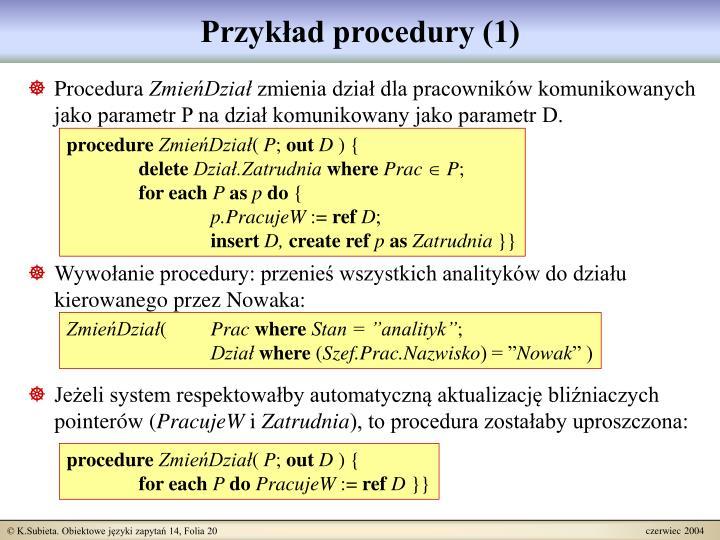 Przykład procedury (1)