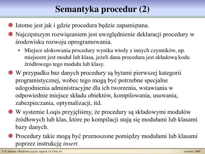 Semantyka procedur (2)