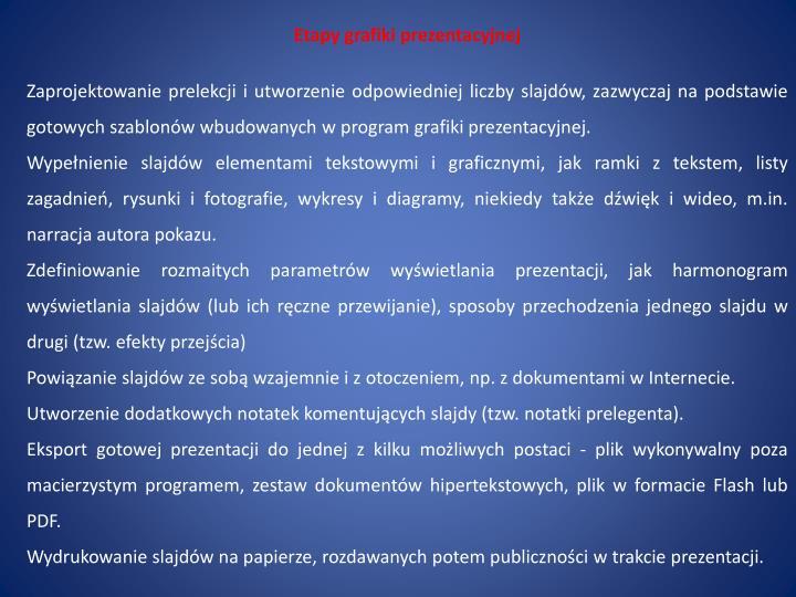 Etapy grafiki prezentacyjnej