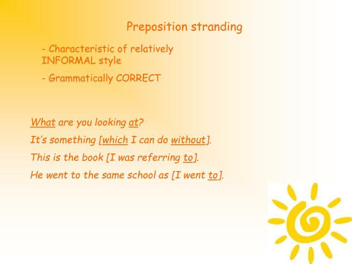 Preposition stranding
