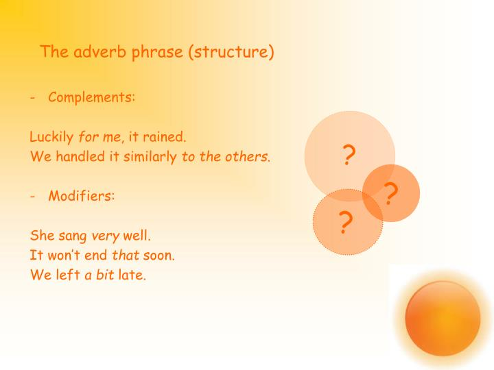 The adverb phrase (structure)