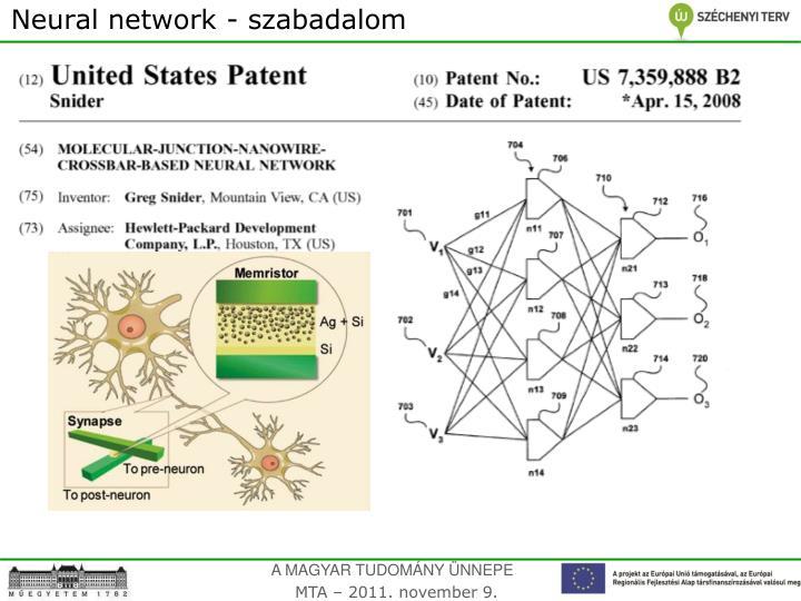 Neural network - szabadalom