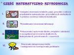 cz matematyczno rzyrodnicza