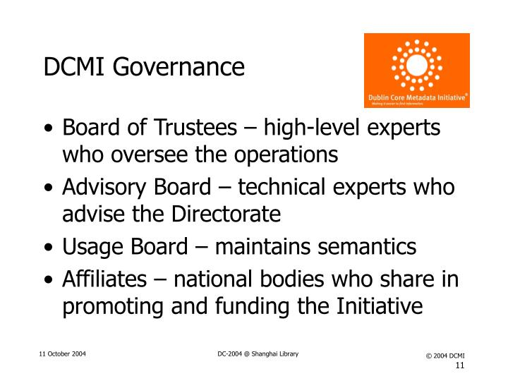 DCMI Governance