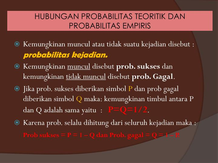 HUBUNGAN PROBABILITAS
