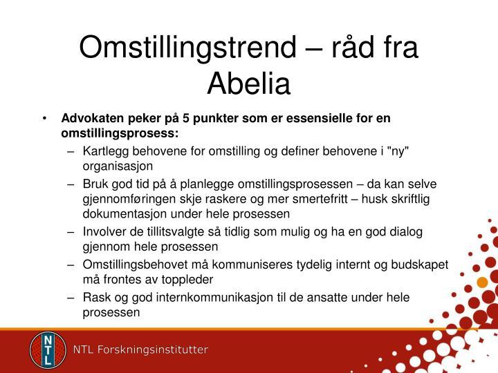 Omstillingstrend – råd fra Abelia
