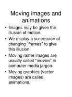 moving images and animations