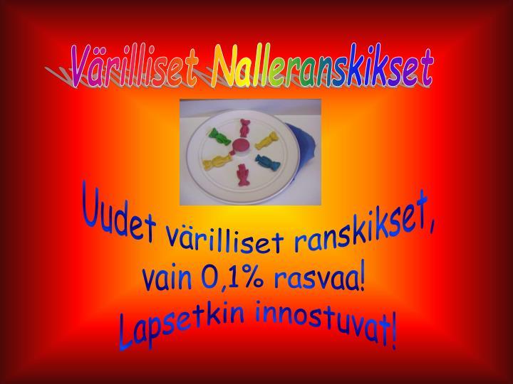 Värilliset Nalleranskikset