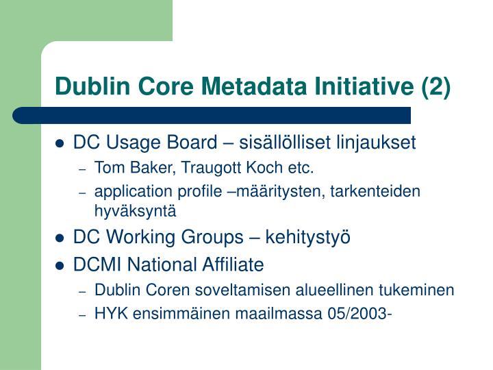 Dublin Core Metadata Initiative (2)