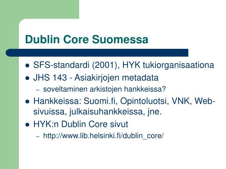 Dublin Core Suomessa
