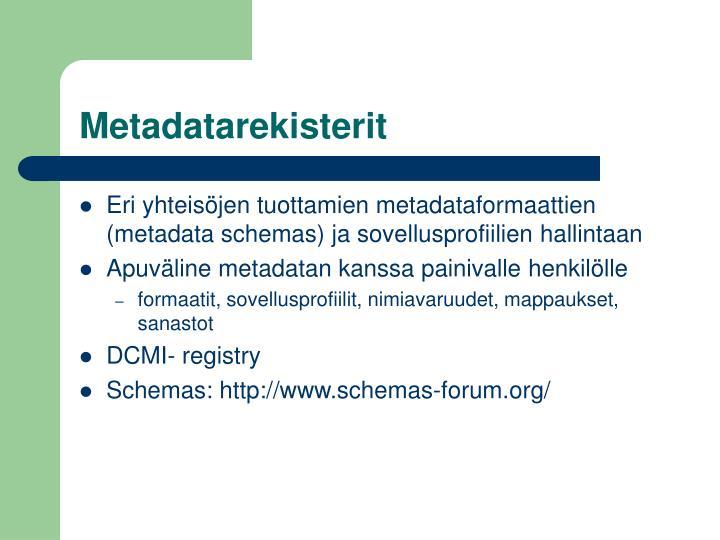 Metadatarekisterit