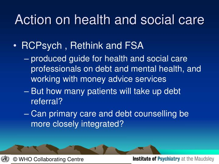 Action on health and social care