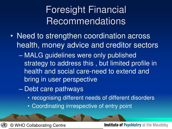 Foresight Financial Recommendations