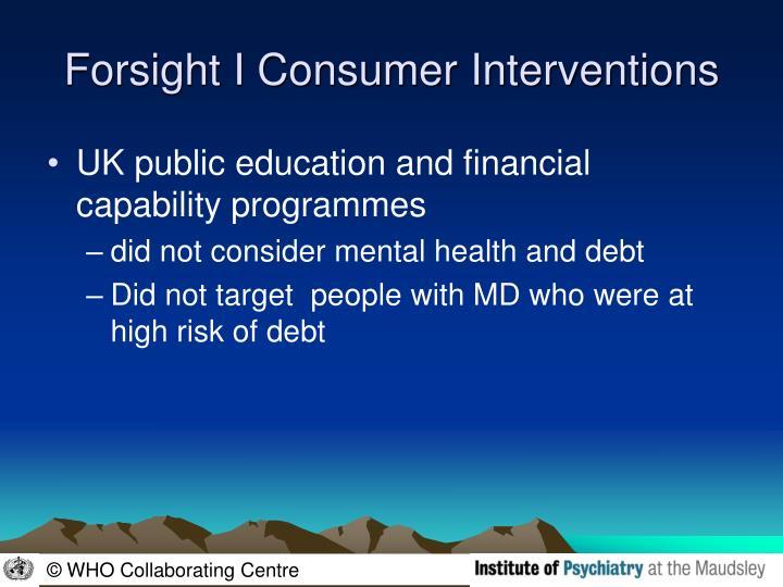 Forsight I Consumer Interventions