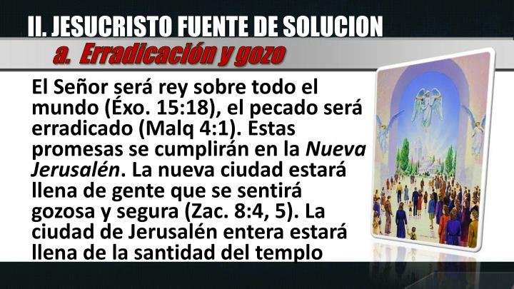 II. JESUCRISTO FUENTE DE SOLUCION