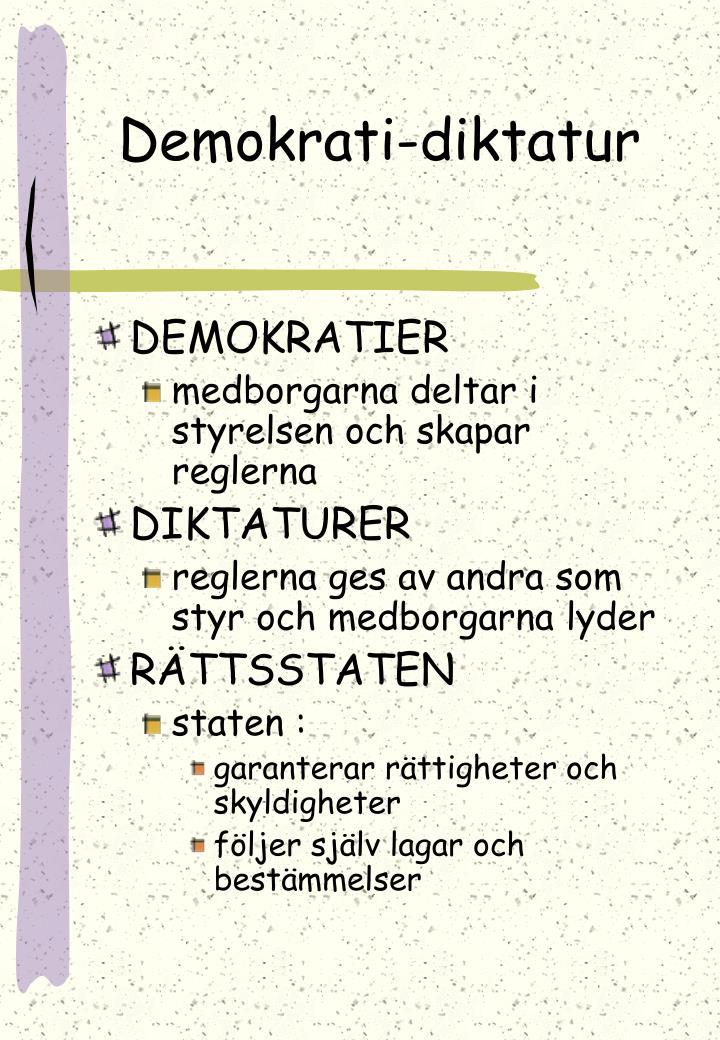 Demokrati-diktatur