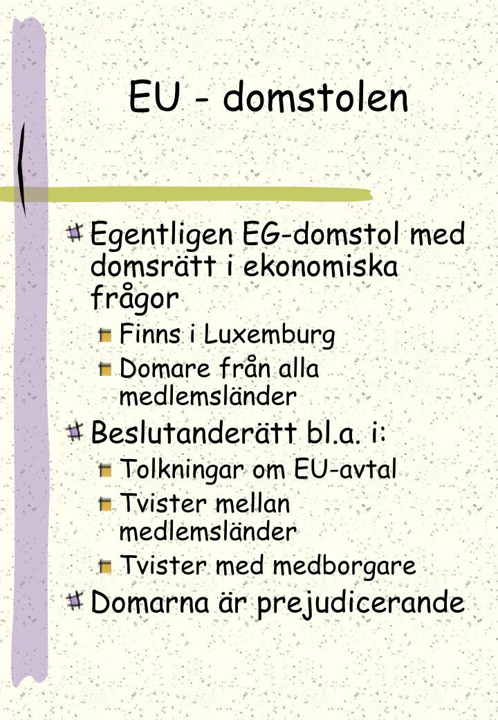 EU - domstolen