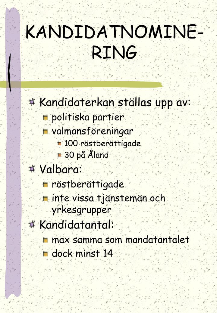 KANDIDATNOMINE-RING