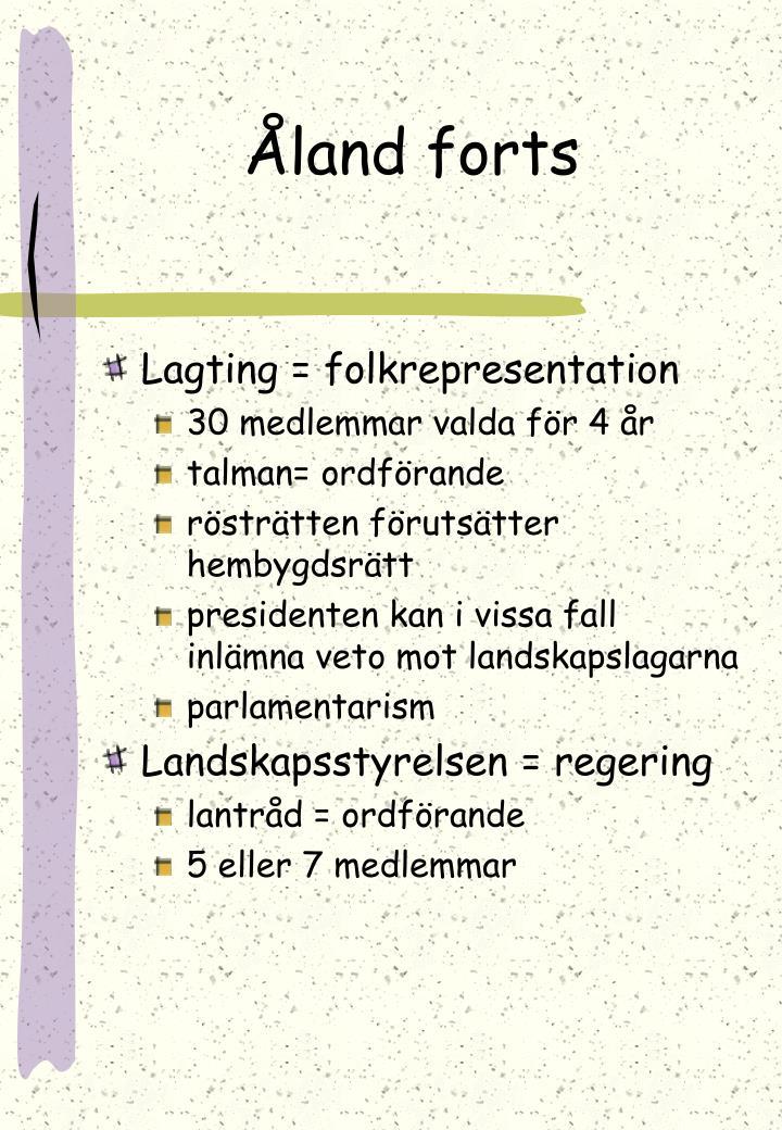 Åland forts